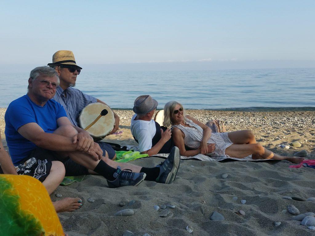 Musizieren am Strand