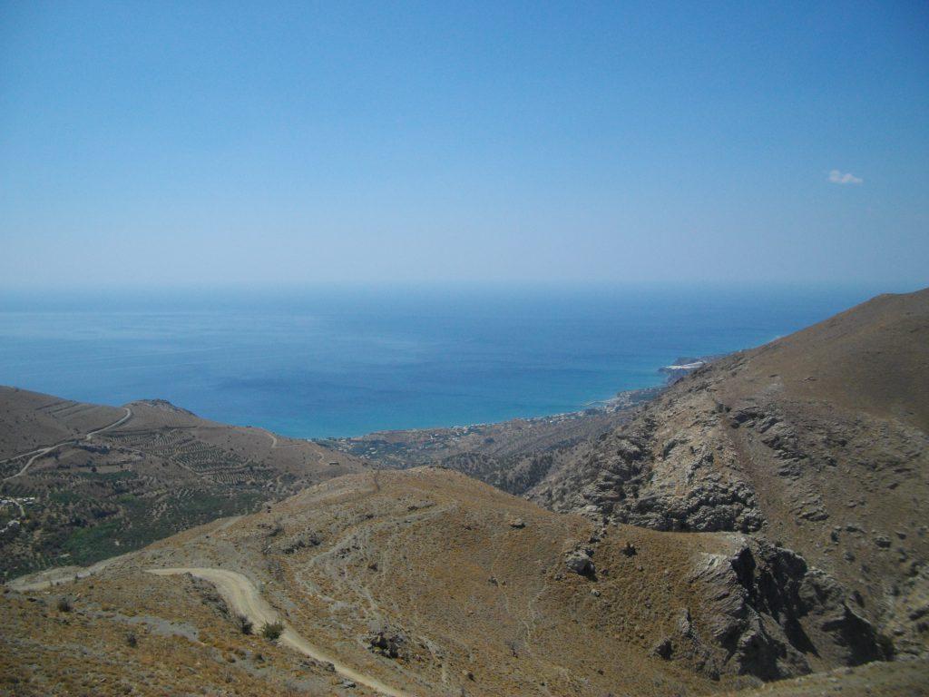 Blick von oben in die Bucht